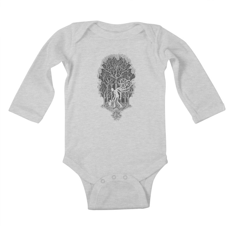 F O L L O W S Kids Baby Longsleeve Bodysuit by badbasilisk's Artist Shop