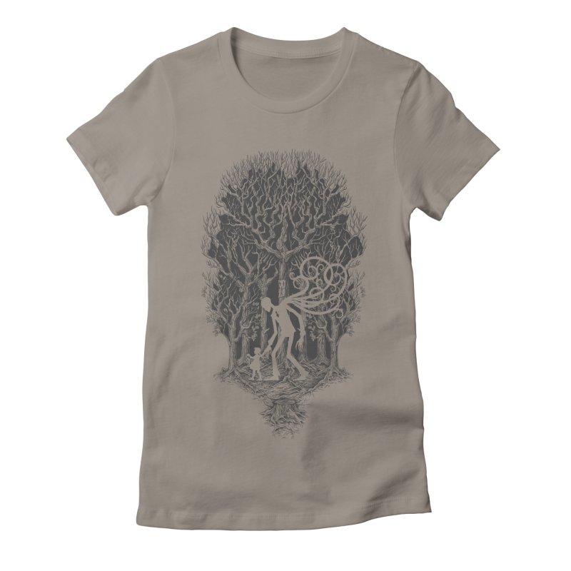 F O L L O W S Women's Fitted T-Shirt by badbasilisk's Artist Shop