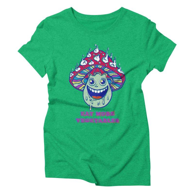 Eat more Vegetables! Women's Triblend T-Shirt by badbasilisk's Artist Shop