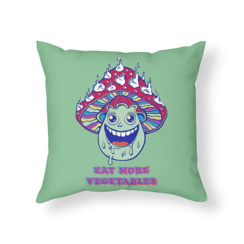 Eat more Vegetables! Home Throw Pillow by badbasilisk's Artist Shop