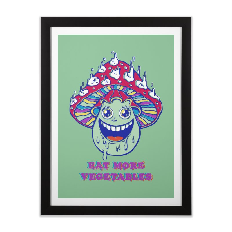 Eat more Vegetables! Home Framed Fine Art Print by badbasilisk's Artist Shop