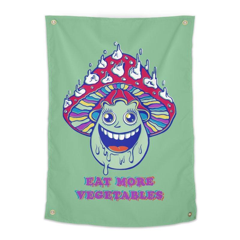 Eat more Vegetables! Home Tapestry by badbasilisk's Artist Shop