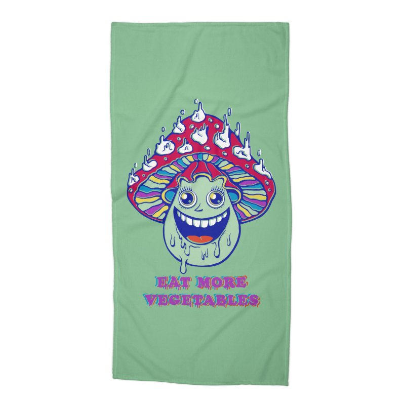Eat more Vegetables! Accessories Beach Towel by badbasilisk's Artist Shop