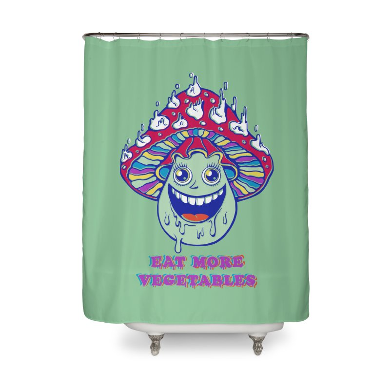 Eat more Vegetables! Home Shower Curtain by badbasilisk's Artist Shop