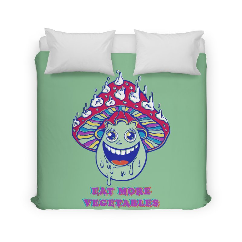 Eat more Vegetables! Home Duvet by badbasilisk's Artist Shop