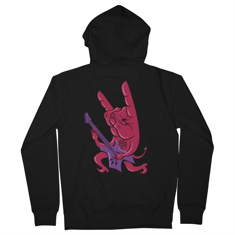 Devil's Rock! Women's Zip-Up Hoody by badbasilisk's Artist Shop