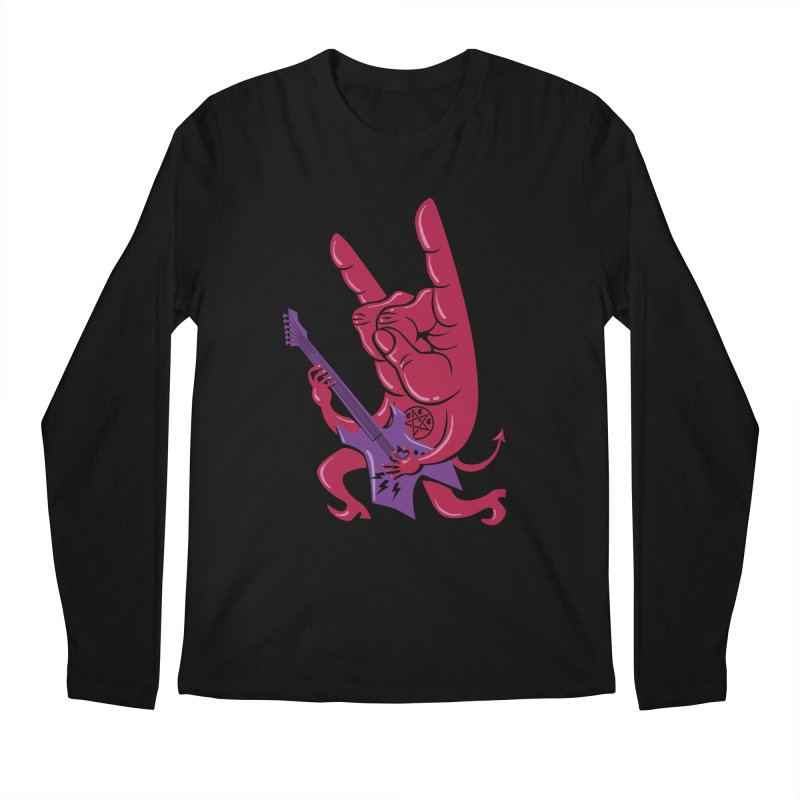Devil's Rock! Men's Longsleeve T-Shirt by badbasilisk's Artist Shop
