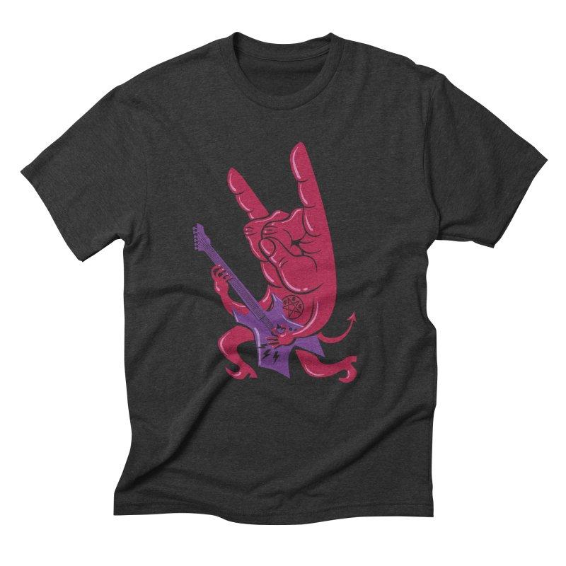 Devil's Rock! Men's Triblend T-shirt by badbasilisk's Artist Shop