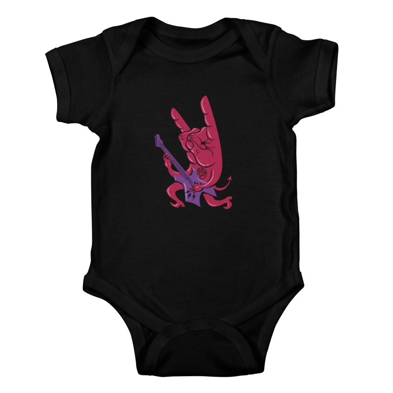 Devil's Rock! Kids Baby Bodysuit by badbasilisk's Artist Shop