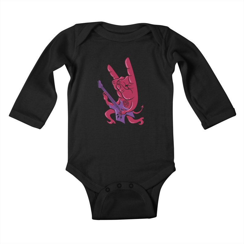 Devil's Rock! Kids Baby Longsleeve Bodysuit by badbasilisk's Artist Shop