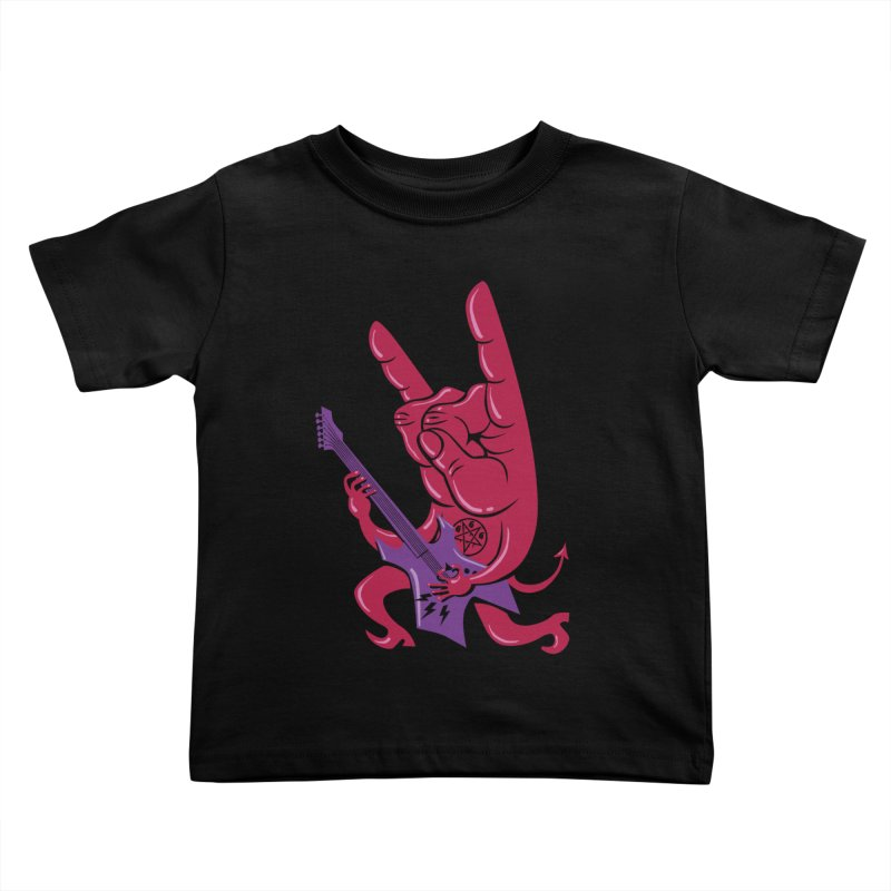 Devil's Rock! Kids Toddler T-Shirt by badbasilisk's Artist Shop