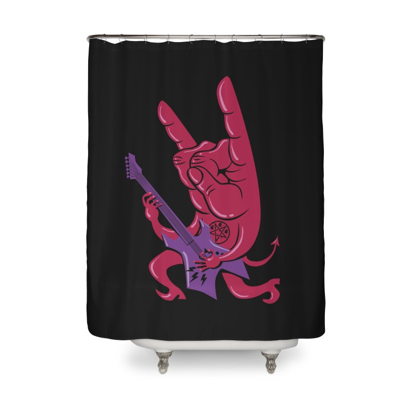 Devil's Rock! Home Shower Curtain by badbasilisk's Artist Shop