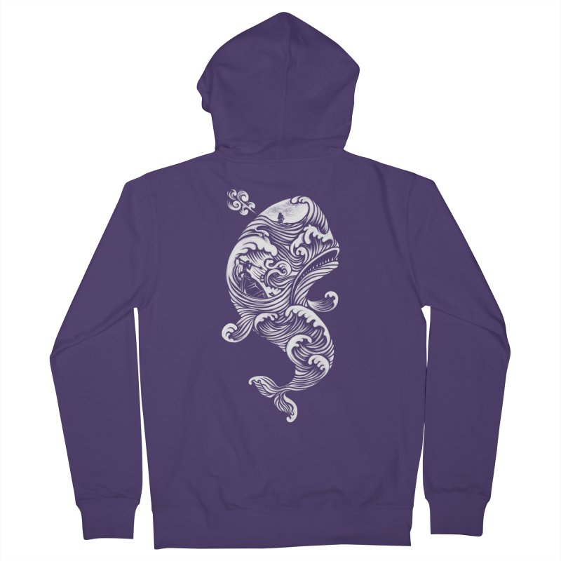 The White Whale Women's Zip-Up Hoody by badbasilisk's Artist Shop