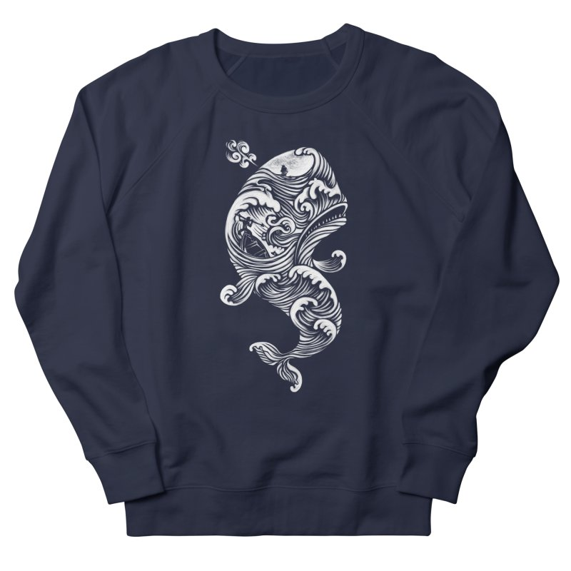 The White Whale Women's Sweatshirt by badbasilisk's Artist Shop