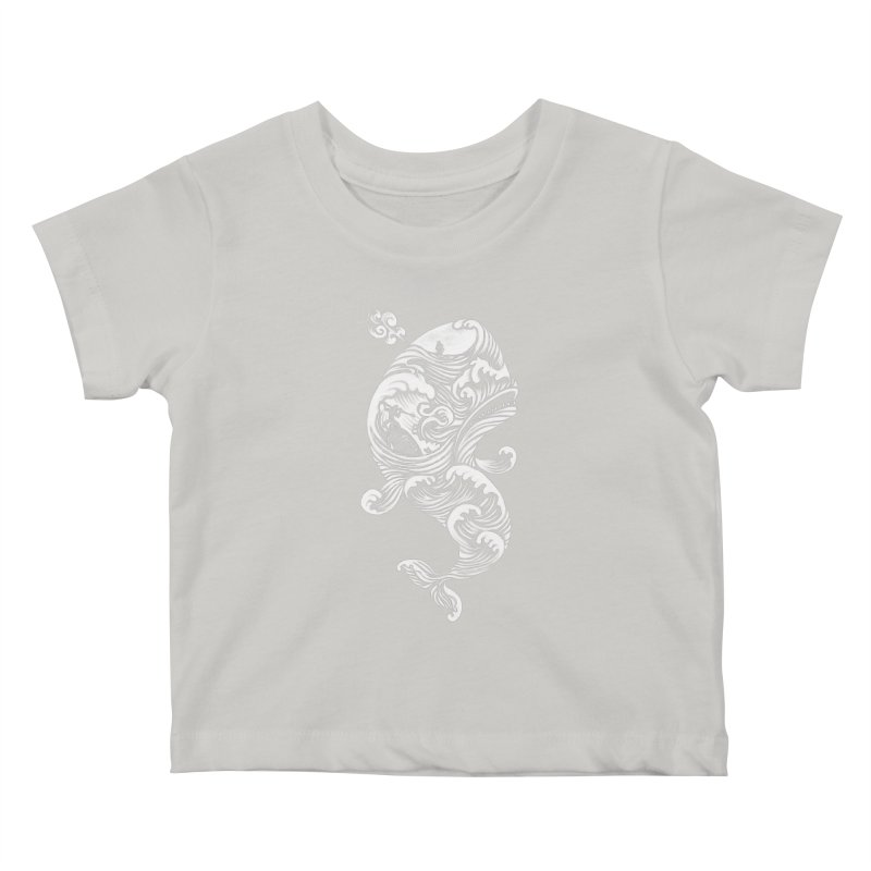 The White Whale Kids Baby T-Shirt by badbasilisk's Artist Shop
