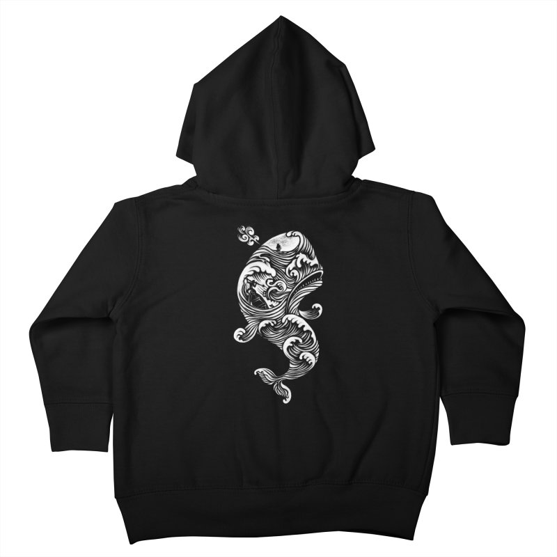 The White Whale Kids Toddler Zip-Up Hoody by badbasilisk's Artist Shop
