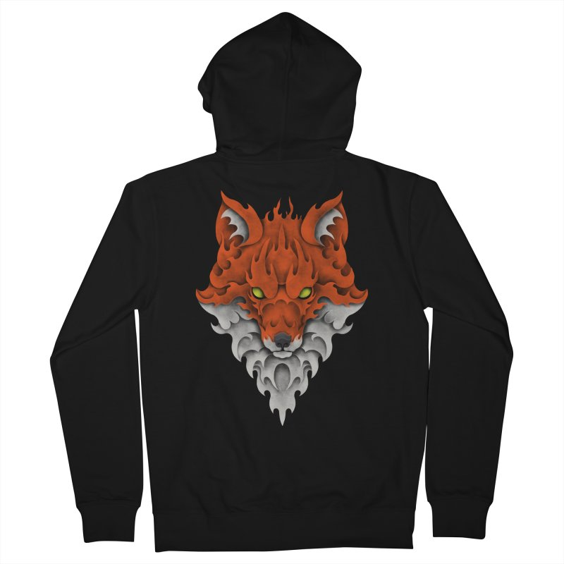 Firefox Men's Zip-Up Hoody by badbasilisk's Artist Shop
