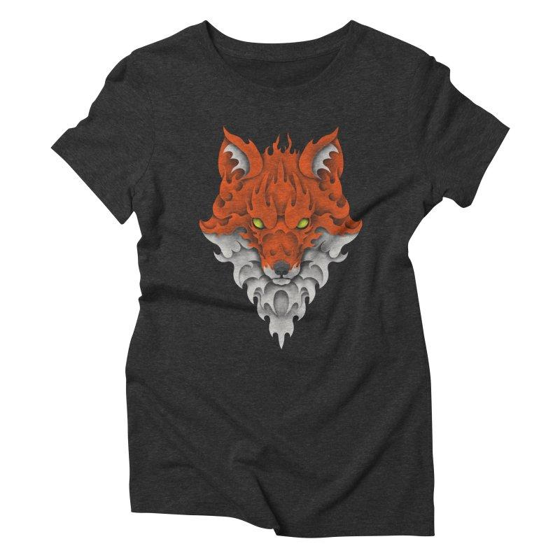 Firefox Women's Triblend T-shirt by badbasilisk's Artist Shop