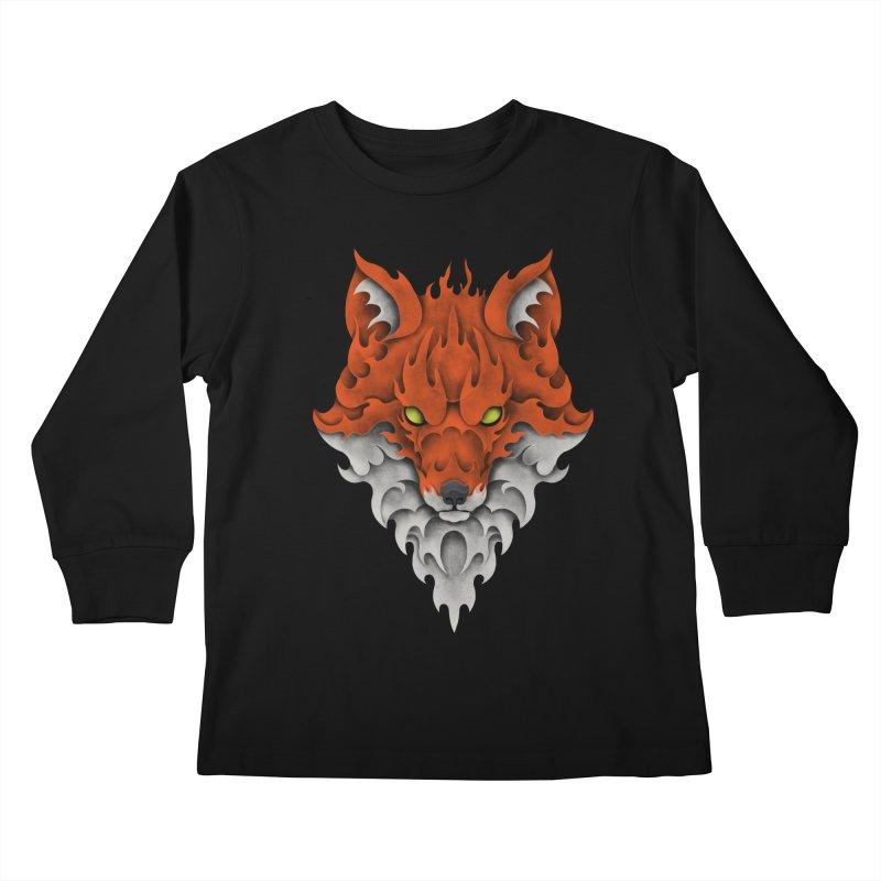 Firefox Kids Longsleeve T-Shirt by badbasilisk's Artist Shop