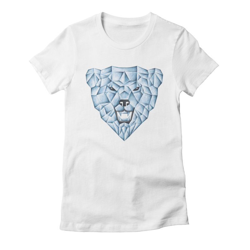 Ice Bear Women's Fitted T-Shirt by badbasilisk's Artist Shop