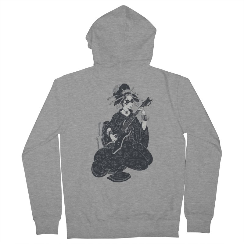 Black Metal Geisha Men's Zip-Up Hoody by badbasilisk's Artist Shop