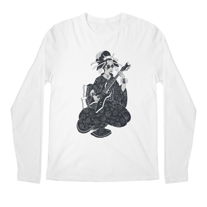 Black Metal Geisha Men's Longsleeve T-Shirt by badbasilisk's Artist Shop