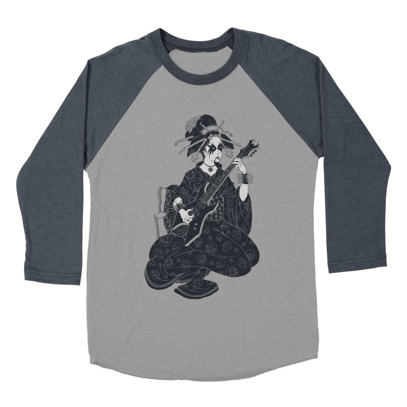 Black Metal Geisha Women's Baseball Triblend T-Shirt by badbasilisk's Artist Shop