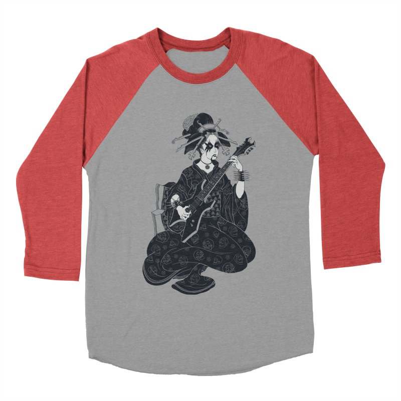 Black Metal Geisha Men's Baseball Triblend T-Shirt by badbasilisk's Artist Shop