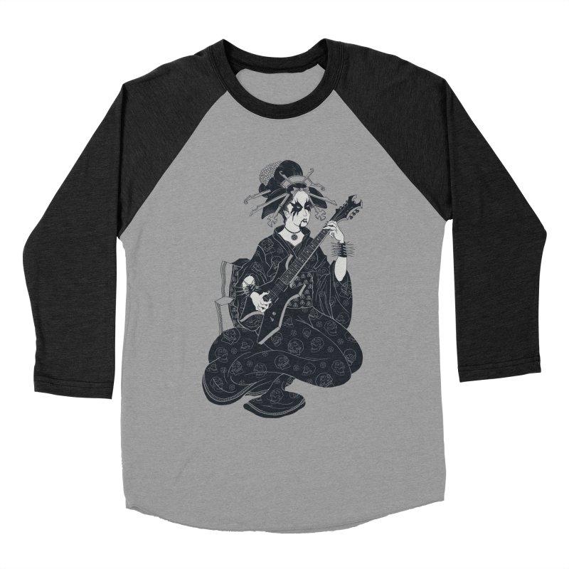 Black Metal Geisha Men's Baseball Triblend Longsleeve T-Shirt by badbasilisk's Artist Shop