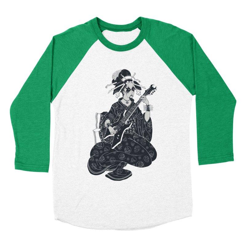 Black Metal Geisha Men's Baseball Triblend T-Shirt by badbasilisk's Artist Shop