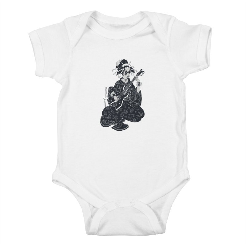 Black Metal Geisha Kids Baby Bodysuit by badbasilisk's Artist Shop