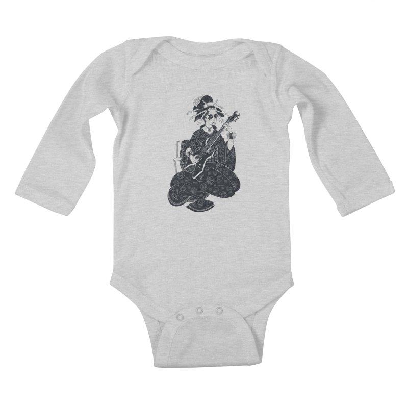 Black Metal Geisha Kids Baby Longsleeve Bodysuit by badbasilisk's Artist Shop