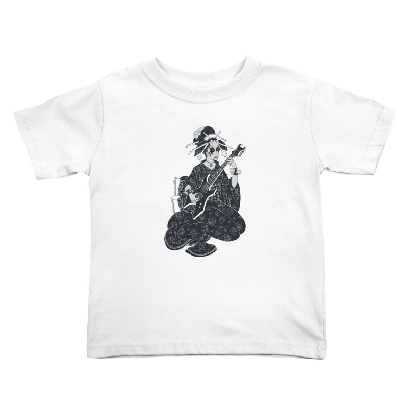 Black Metal Geisha Kids Toddler T-Shirt by badbasilisk's Artist Shop