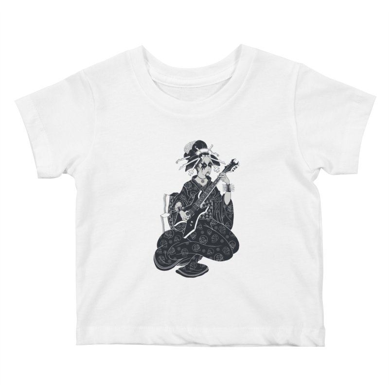 Black Metal Geisha Kids Baby T-Shirt by badbasilisk's Artist Shop