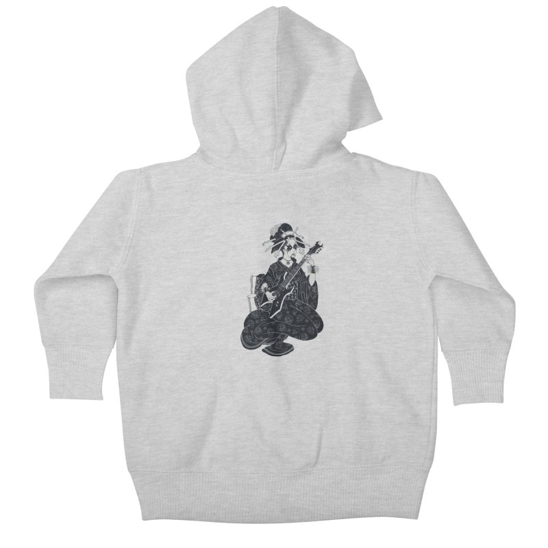 Black Metal Geisha Kids Baby Zip-Up Hoody by badbasilisk's Artist Shop