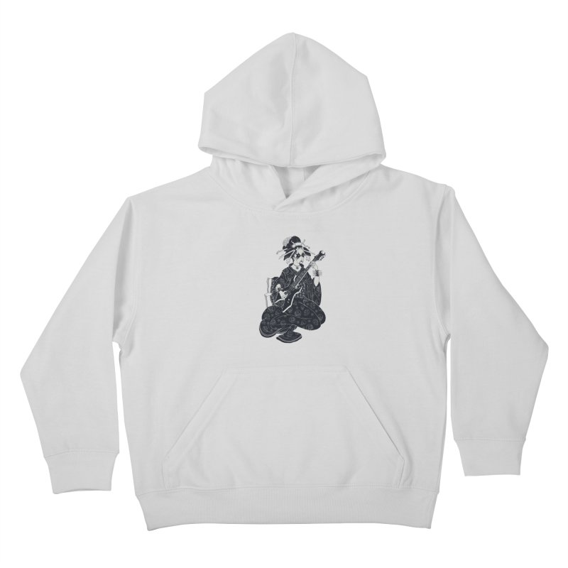 Black Metal Geisha Kids Pullover Hoody by badbasilisk's Artist Shop