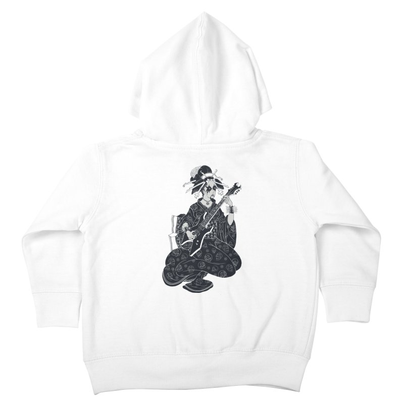 Black Metal Geisha Kids Toddler Zip-Up Hoody by badbasilisk's Artist Shop