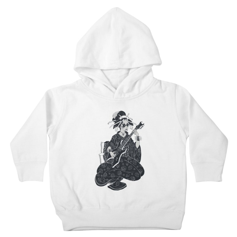 Black Metal Geisha Kids Toddler Pullover Hoody by badbasilisk's Artist Shop