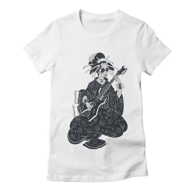 Black Metal Geisha Women's Fitted T-Shirt by badbasilisk's Artist Shop