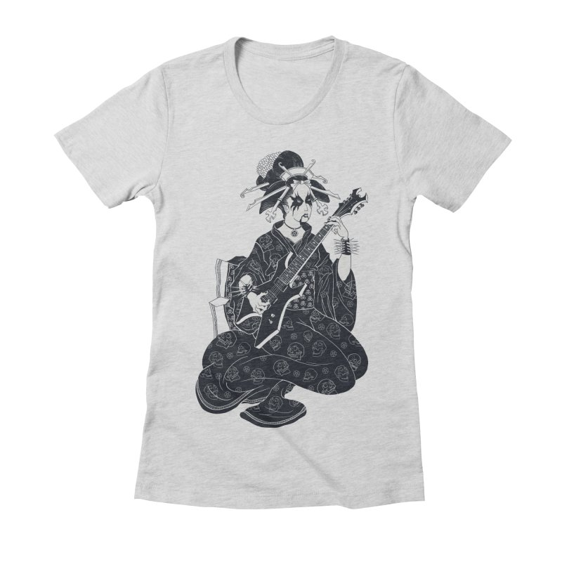 Black Metal Geisha Women's Fitted T-Shirt by badbasilisk's Artist Shop