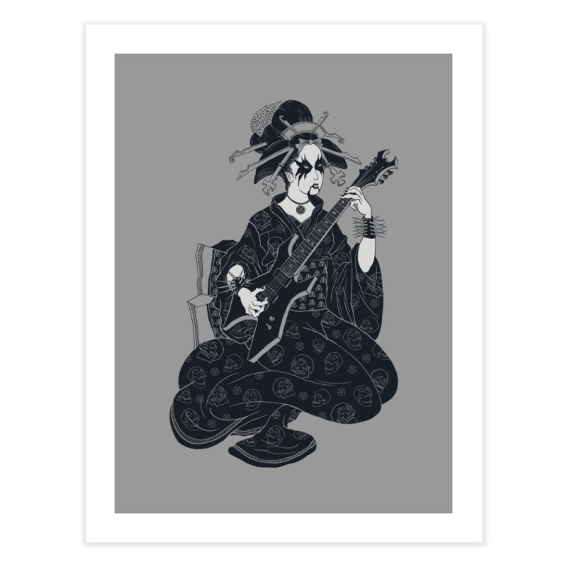 Black Metal Geisha Home Fine Art Print by badbasilisk's Artist Shop