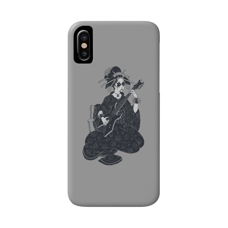 Black Metal Geisha Accessories Phone Case by badbasilisk's Artist Shop