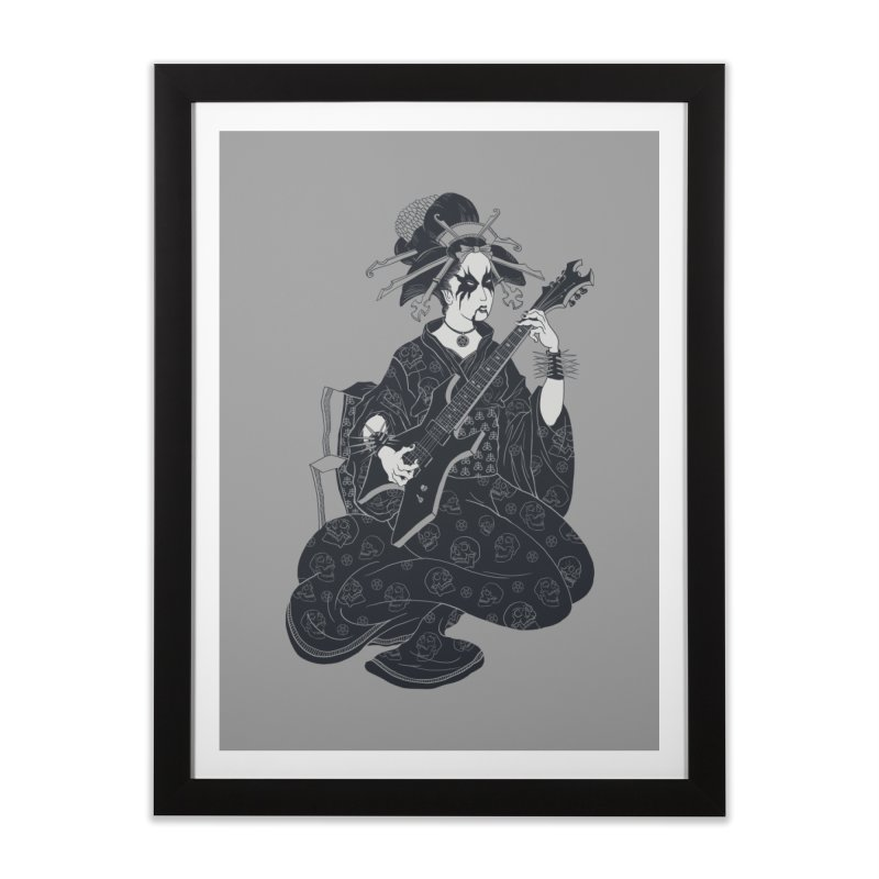 Black Metal Geisha Home Framed Fine Art Print by badbasilisk's Artist Shop
