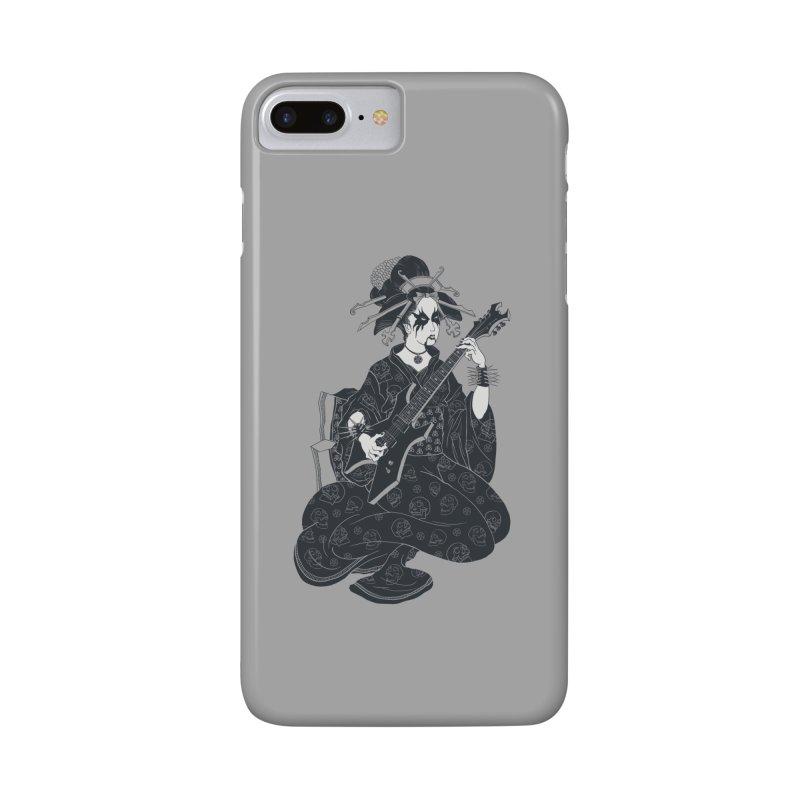 Black Metal Geisha Accessories Phone Case by badbasilisk's Artist Shop