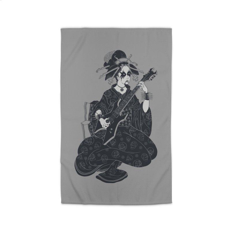 Black Metal Geisha Home Rug by badbasilisk's Artist Shop