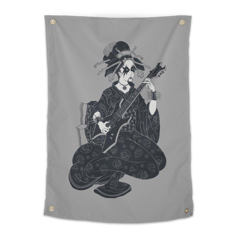 Black Metal Geisha Home Tapestry by badbasilisk's Artist Shop