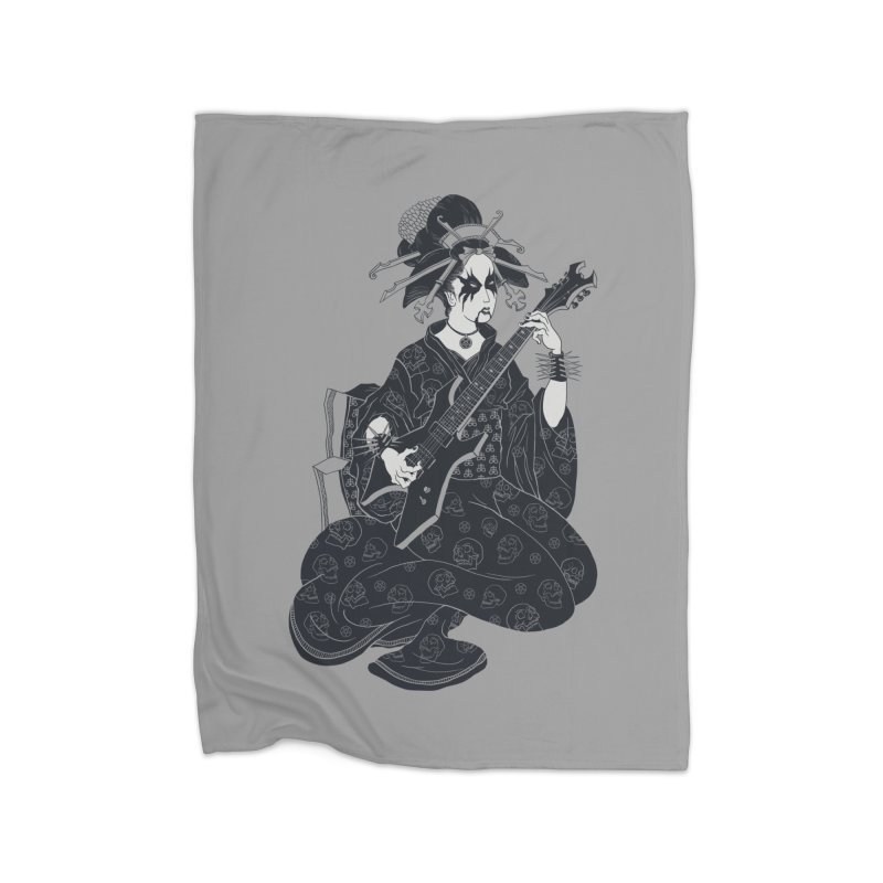 Black Metal Geisha Home Blanket by badbasilisk's Artist Shop