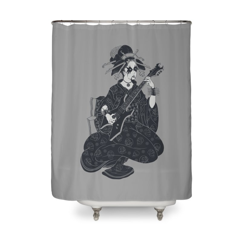 Black Metal Geisha Home Shower Curtain by badbasilisk's Artist Shop
