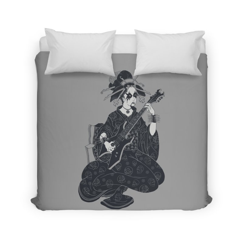 Black Metal Geisha Home Duvet by badbasilisk's Artist Shop