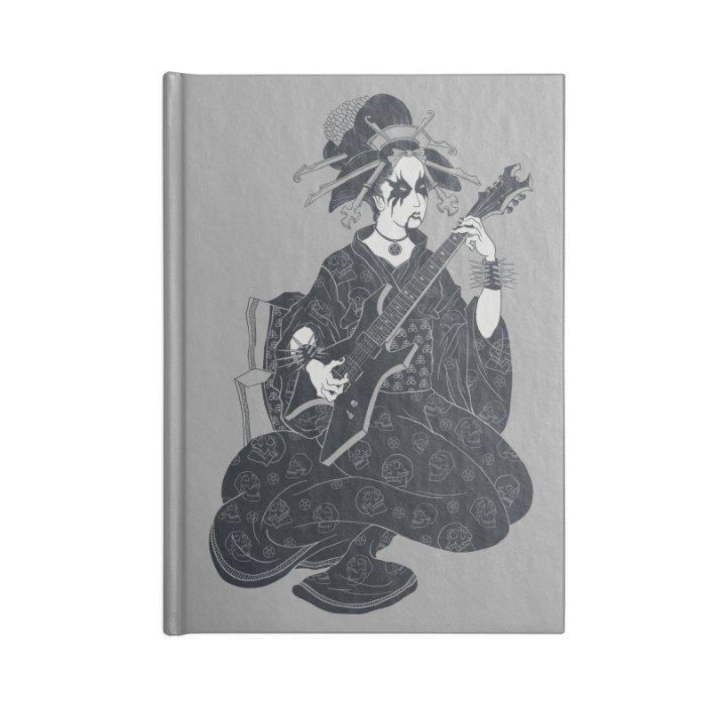 Black Metal Geisha Accessories Notebook by badbasilisk's Artist Shop